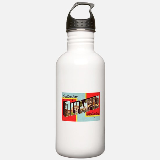 Olympia Washington Greetings Water Bottle