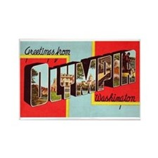 Olympia Washington Greetings Rectangle Magnet