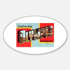 Olympia Washington Greetings Sticker (Oval)