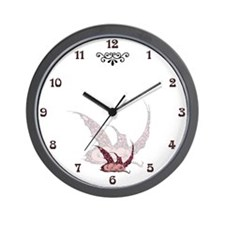 Sleeping Crimson Dragonette Wall Clock