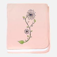 Flower Doodle S baby blanket