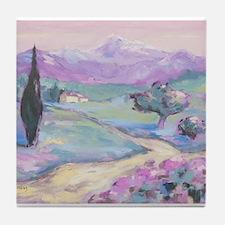 Purple mountain Painting Tile Coaster