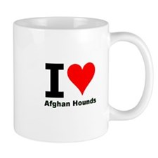 I Love Afghan Hounds Mug