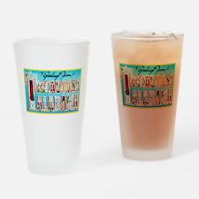 Tuscaloosa Alabama Greetings Drinking Glass