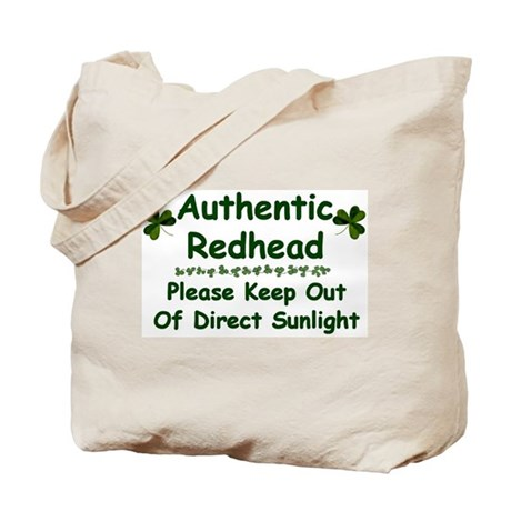 Authentic Redhead.....Tote Bag