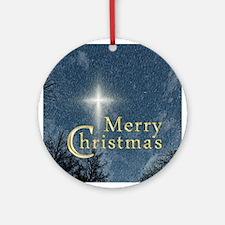 The Bethlehem Star Merry Christmas Ornament (Round