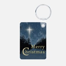 The Bethlehem Star Aluminum Photo Keychain