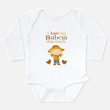 Scarecrow I Love Babcia Long Sleeve Baby Bodysuit