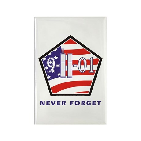 NEVER Forget - Rectangle Magnet
