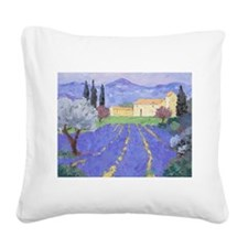 Lavender Farm Square Canvas Pillow
