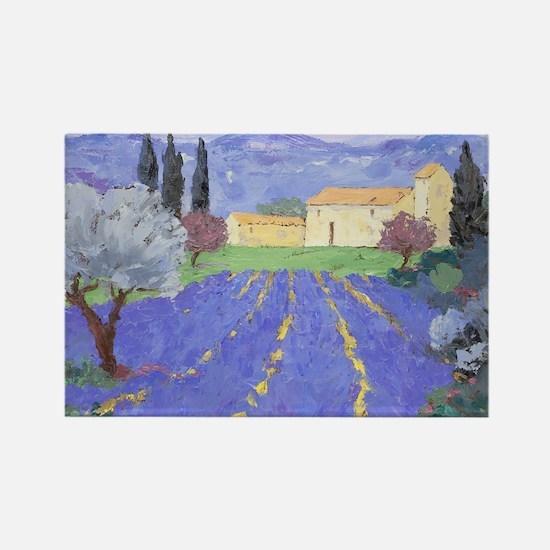 Lavender Farm Rectangle Magnet