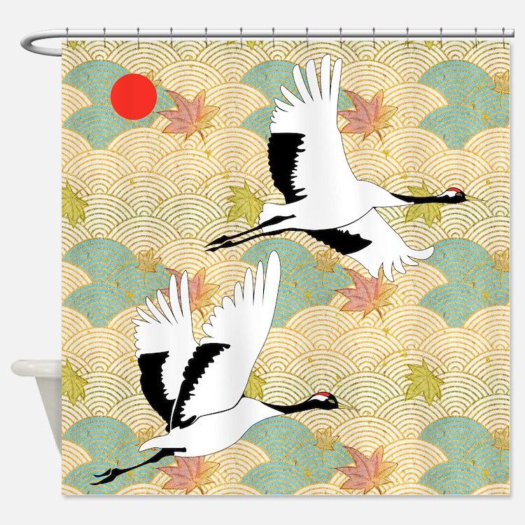 Soaring Cranes - Shower Curtain