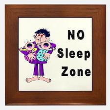No Sleep Zone Framed Tile