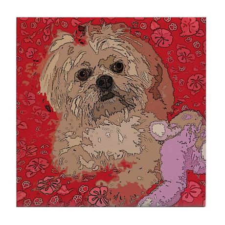 Lhasa Apso Pop Art Shelbi Tile Coaster