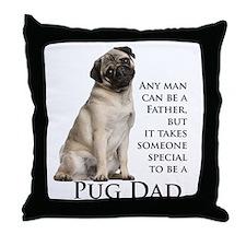 Pug Dad Throw Pillow