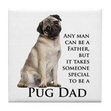 Pug Dad Tile Coaster