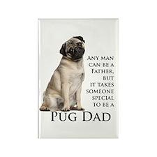 Pug Dad Rectangle Magnet