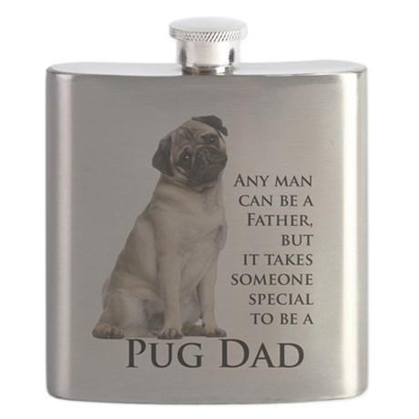 Pug Dad Flask