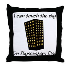 Skyscrapers Day Throw Pillow