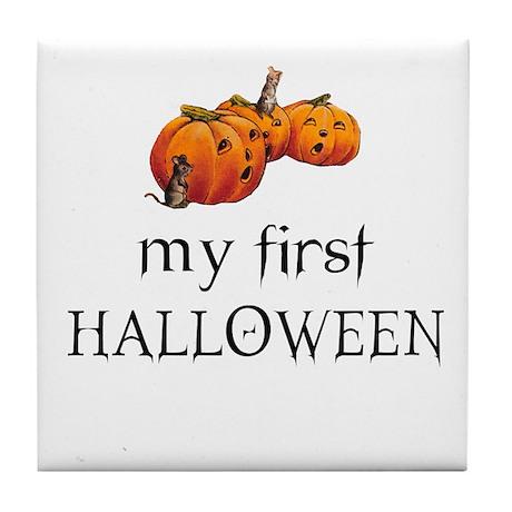 My first Halloween Tile Coaster