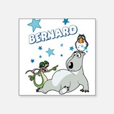 "Bernard Bear Square Sticker 3"" x 3"""