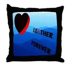 LEATHER FOREVER_ENDLESS MTNS2 Throw Pillow