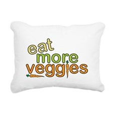 Eat More Veggies Rectangular Canvas Pillow