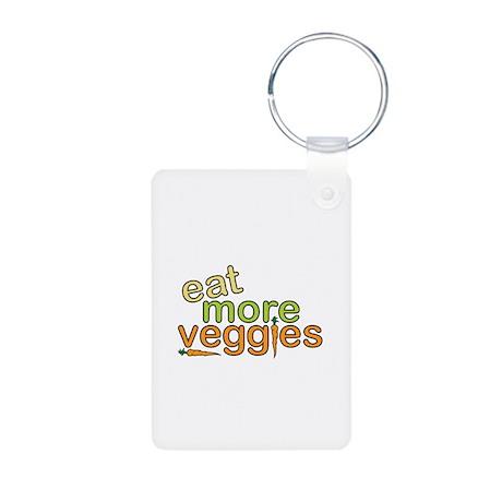 Eat More Veggies Aluminum Photo Keychain