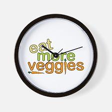 Eat More Veggies Wall Clock