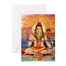 Lord Shiva Meditating Greeting Cards (Pk of 10)