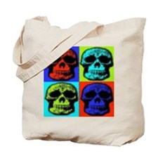 multi color skull tote
