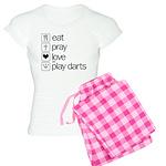 eat play love and play darts Women's Light Pajamas