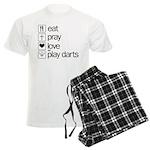eat play love and play darts Men's Light Pajamas