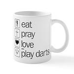 eat play love and play darts Mug