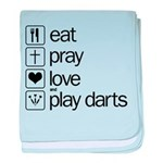 eat play love and play darts baby blanket