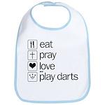 eat play love and play darts Bib