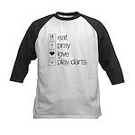 eat play love and play darts Kids Baseball Jersey