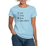 eat play love and play darts Women's Light T-Shirt