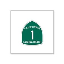 Laguna Beach, California High Sticker (Rectangular
