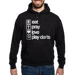 eat play love and play darts Hoodie (dark)