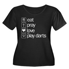 eat play love and play darts T