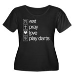 eat play love and play darts Women's Plus Size Sco
