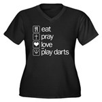 eat play love and play darts Women's Plus Size V-N
