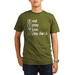 eat play love and play darts Organic Men's T-Shirt