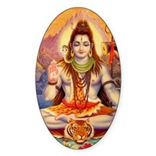 Lord Shiva Meditating Decal