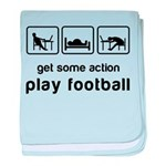 Play football baby blanket