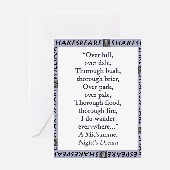 Over Hill, Over Dale Greeting Card
