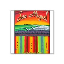 "San Miguel Mural 2012 Square Sticker 3"" x 3"""
