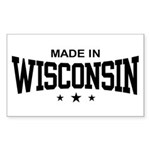 Made In Wisconsin Sticker (Rectangle)