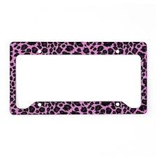 Purple Leopard Print License Plate Holder